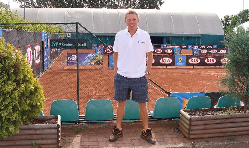 Krzysztof Malinowski - pomysłodawca i organizator Ligi Tenisa Ziemnego w Kortowie